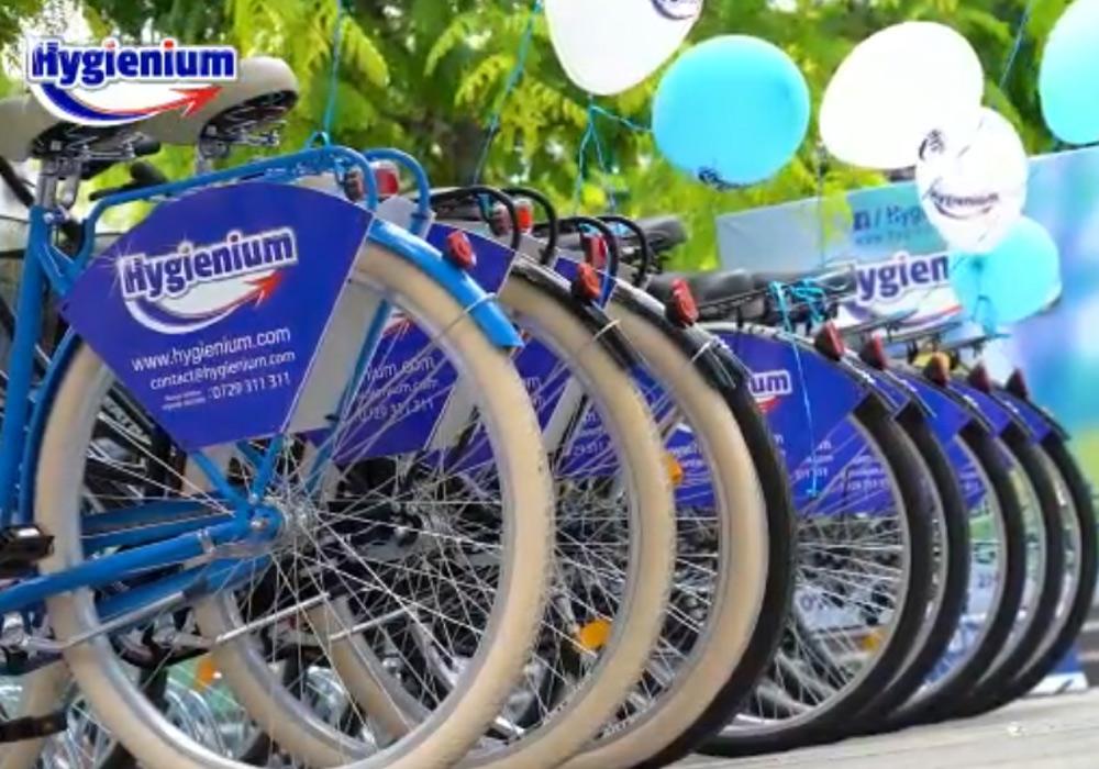 Cu mâinile curate, mergem mai departe! Hygienium Bike, un proiect unic în Galați, pentru un oraș mai modern, mai îngrijit!