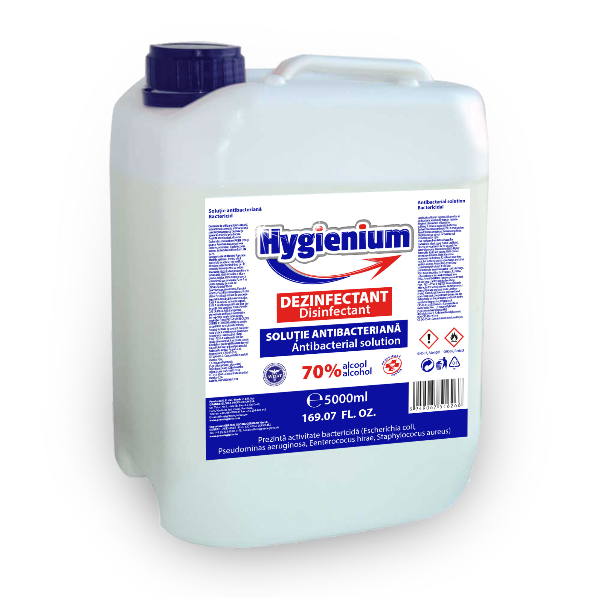 Solutie Antibacteriana 70% alcool, 5l